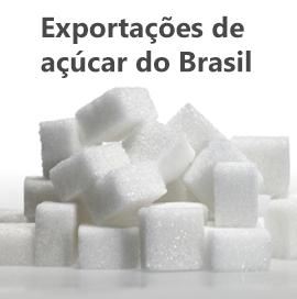 Exportações de açúcar no Brasil