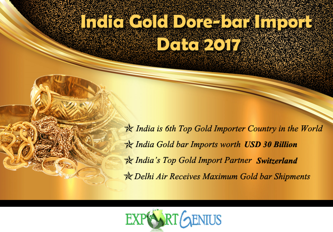 Gold Dore Bar Imports in India 2017 – List of Gold Bar