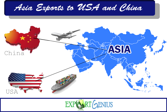 Asian Countries Exports